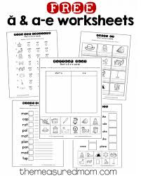 10 free short a u0026 a e worksheets silent e worksheets and short a
