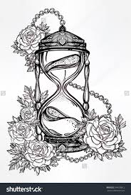 Romantic Designs by Hand Drawn Romantic Beautiful Drawing Of A Hourglass With Roses
