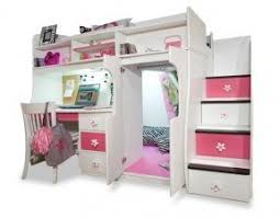 Girls White Loft Bed With Desk Foter - Girls bunk bed with desk