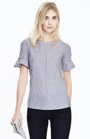 banana republic flutter sleeve top striped shirts tops and