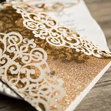 laser cut invitations ivory vintage glittery laser cut wedding invitations with twine