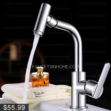 One Handle Bathroom Faucets Simple Rotatable Single Hole One Handle Bathroom Sink Faucet