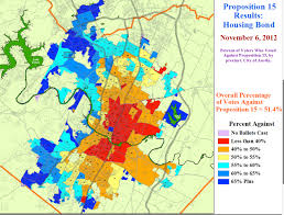 Austin Texas Map by Map Shows Precinct Results For Austin Housing Bond Defeat Texas