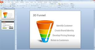 sales funnel template powerpoint free download free 3d funnel