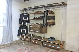 Bookcase Ladder And Rail by Davis Oak Stained Reclaimed Scaffolding Board And Galvanised