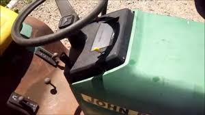 john deere lawn mower bad switch bypass youtube