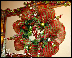 fair images of mesh christmas wreath for christmas decorating