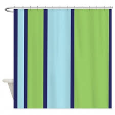 Navy And White Striped Shower Curtain Green Striped Shower Curtain Foter