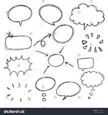 think bubble talk bubble collection sketch stock vector 119055931