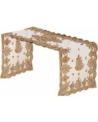 hand beaded table runners don t miss this deal on elegant hand beaded table runner gold 16 x72