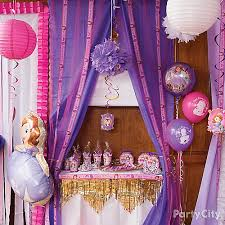 sofia the first table sofia the first favors table idea party city party city
