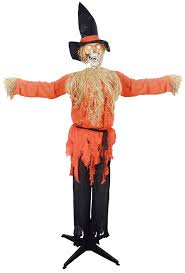 The Ring Halloween Prop Amazon Com Standing Scarecrow With Moving Head Prop Kitchen U0026 Dining