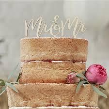 mr and mr cake topper wooden mr mr cake topper moss cottage