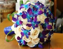 blue dendrobium orchids real touch blue and purple dendrobium orchids artificial