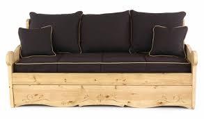 housse de canapé lit housse pour canapé convertible gigogne 3 places dahu chocolat