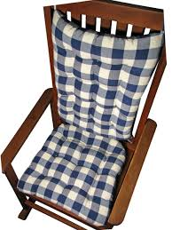 Rocking Chair Cushion Sets Uncategorized Vignette Blue Buffalo Check Rocking Chair Cushion