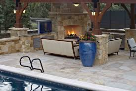 fireplace outdoor fireplace design which made of hefty stone with
