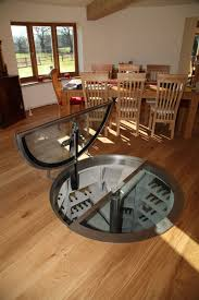 basement awesome trap door wine cellar with wooden flooring and