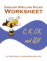 english spelling rules and printable worksheets for the k sounds