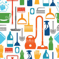House Keeping by Housekeeping Lifestyle Seamless Pattern With Cleaning Icons