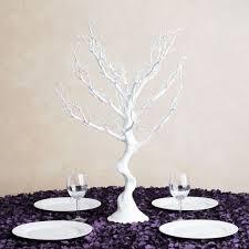 manzanita tree centerpiece in white manzanita tree centerpiece