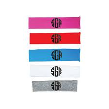 monogram headband glitter three letter block monogram headband likewear