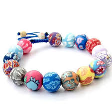 flower beads bracelet images Fimo polymer clay flower beads adjustable bracelet prana heart jpg