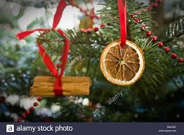 traditional tree decoration comprising dried orange