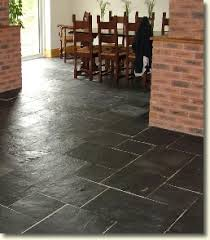 12x24 black slate tile lay diagonal in kitchen for the home