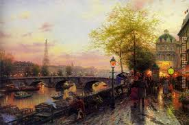 thomas kinkade paris eiffel tower painting anysize 50 off
