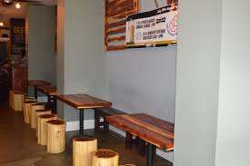saint brewis brewer spotlight rebecca schranz earthbound beer handmade seats tables and decor are one of a kind