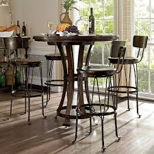 european dining room furniture european farmhouse winemakers pub 5 piece dining set hayneedle