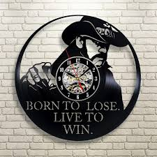 super cool cd vinyl record wall clock modern design born to lose