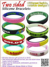 design silicone bracelet images Double sided silicone wristband gift and premiums items jpg