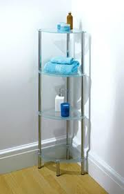 Glass Bathroom Corner Shelves Corner Bathroom Shelf Engem Me