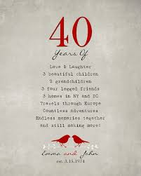 40 anniversary gift spectacular 40th wedding anniversary gift b78 on images gallery