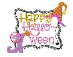 happy halloween frame applique design halloween frame applique