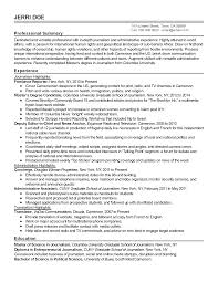Sample Journalism Resume by 100 Sample Journalist Resume Letter For Journalism Resume 100