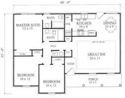 european style house plan 3 beds 2 00 baths 1238 sq ft plan 14 247