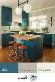 blue color kitchen cabinets kitchen decoration