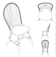 512 custom woodworking archive windsor side chair line drawing