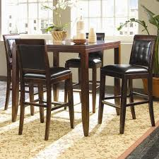 oval pub table set ash oval pub table 5 piece dining set in espresso finish pertaining