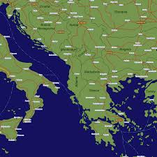 Map Greece by Greece Rail Travel Map European Rail Guide