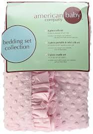Portable Mini Crib Bedding Sets by Amazon Com American Baby Company Heavenly Soft Minky Dot 3 Piece