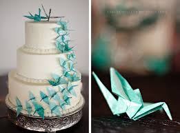 Origami Wedding Cake - creative cake toppers origami white wedding cakes and cake