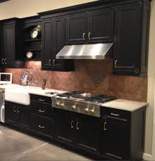 sydney copper tile backsplash kitchen contemporary with small
