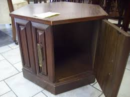 tall table with storage modern wooden round tall end tables espresso finish with drawer and