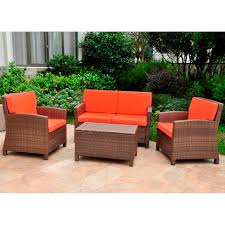 Rattan Settee Settee Group Set