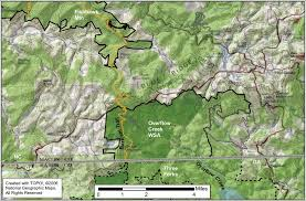 nantahala river map wilderness study areas in nc our carolina