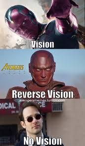 Avengers Meme - i have a vision of bad memes superheroes superheroes batman